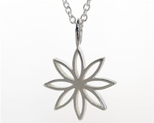 Small silver flower