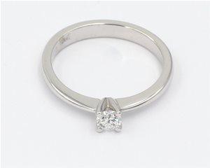 Fine single diamond ring