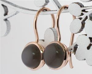 Moonstone rose earrings