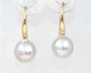 Silver drop pearls