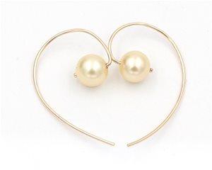 Pearl heart hooks