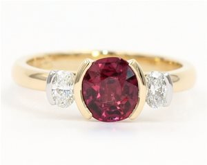 Ruby and Oval diamonds