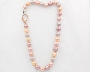 Pink multi colour pearls