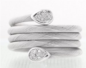 Cable Diamond Ring