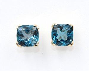 London blue stud earring