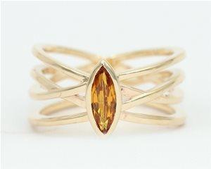 Golden yellow sapphire