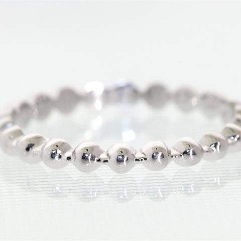 White gold bead ring