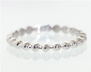 White gold bead ring