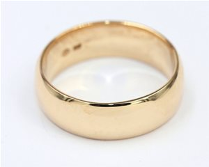 Gold band 7mm