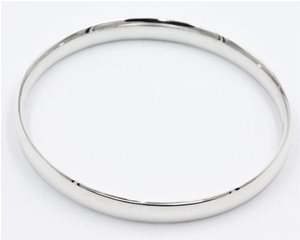 Silver half round