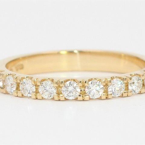 Half diamond set band