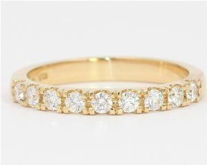 Half diamond set band