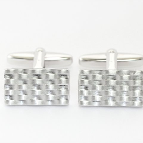 Rippled cufflinks