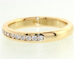 Diamond Channel set yellow band