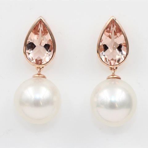 Morganite and pearls